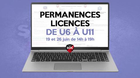 Permanences Licences U6/U7/U8/U9 – U10/U11